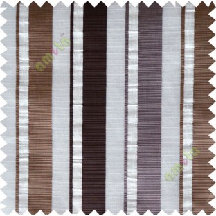 Brown white beige main fabric light cut poly sheer curtain designs