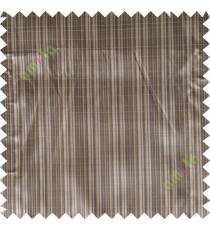 Brown yellow solid check poly main curtain designs