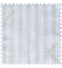 White vertical stripes poly sheer curtain designs