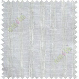 Pure white vertical stripes poly sheer curtain designs