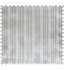 Grey khaki solid check poly main curtain designs