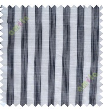 Black and white vertical stripes poly sheer curtain designs