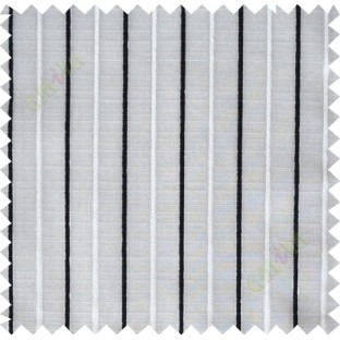 Black and white vertical bold thread lines poly sheer curtain designs
