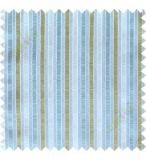 Green blue white main fabric stripes poly sheer curtain designs