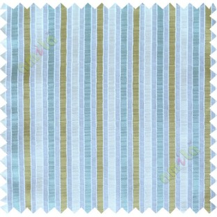 Green blue white main fabric stripes poly sheer curtain designs