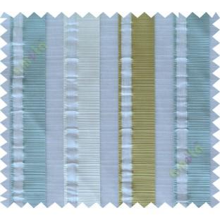 Green blue white main fabric light cut poly sheer curtain designs