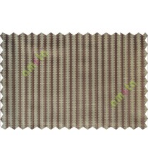 Brown vertical pencil stripes polycotton main curtain designs
