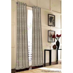 Brown vertical pencil stripes polycotton main curtain designs