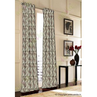 Brown vertical wevy polycotton main curtain designs