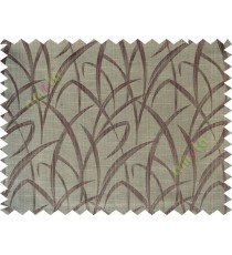 Brown maze leaf polycotton main curtain designs