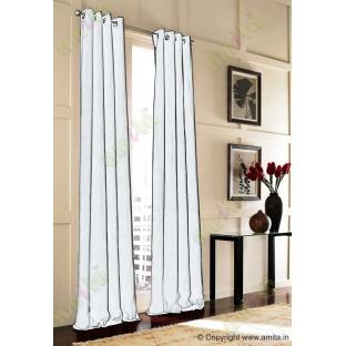 White vertical pencil stripes polycotton main curtain designs
