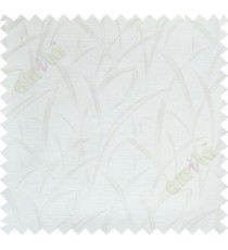 White maze leaf polycotton main curtain designs
