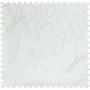White maze leaf polycotton main curtain designs