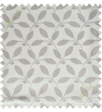 Beige leafy design polycotton main curtain designs