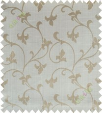 Beige botanical design polycotton main curtain designs