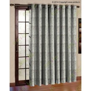 Beige botanical design polycotton main curtain designs