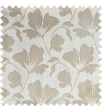 Beige floral design polycotton main curtain designs