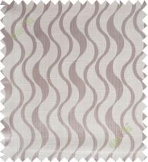 Brown beige vertical wevy polycotton main curtain designs