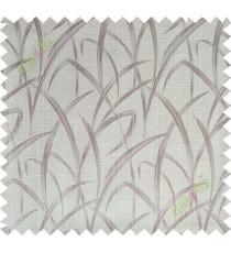 Brown beige maze leaf polycotton main curtain designs