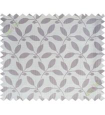 Brown beige leafy design polycotton main curtain designs
