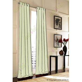 Yellow green vertical pencil stripes polycotton main curtain designs