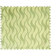 Yellow green vertical wevy polycotton main curtain designs