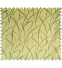 Yellow green maze leaf polycotton main curtain designs