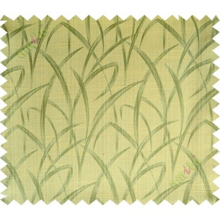 Yellow green maze leaf polycotton main curtain designs