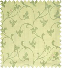 Yellow green botanical design polycotton main curtain designs