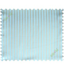 Aqua blue beige vertical pencil stripes polycotton main curtain designs