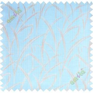 Aqua blue beige maze leaf polycotton main curtain designs