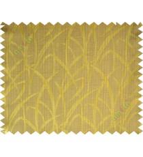 Brown gold maze leaf polycotton main curtain designs