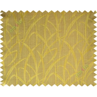 Brown gold maze leaf polycotton main curtain designs