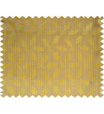 Brown gold leafy design polycotton main curtain designs