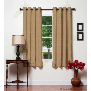 Brown gold leafy design polycotton main curtain designs