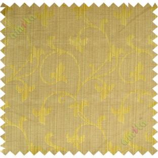 Brown gold botanical design polycotton main curtain designs