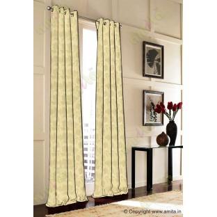 Brown gold floral design polycotton main curtain designs
