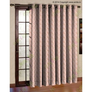 Brown gold vertical wevy polycotton main curtain designs