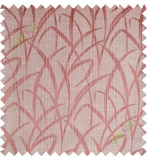 Orange gold maze leaf polycotton main curtain designs