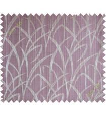 Dark purple maze leaf polycotton main curtain designs