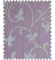 Dark purple botanical design polycotton main curtain designs