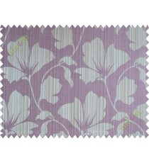 Dark purple floral design polycotton main curtain designs