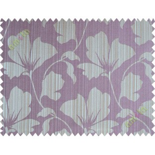 Dark purple floral design polycotton main curtain designs