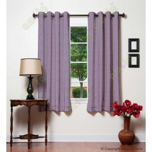 Pink grey vertical pencil stripes polycotton main curtain designs
