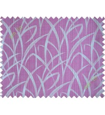 Pink grey maze leaf polycotton main curtain designs
