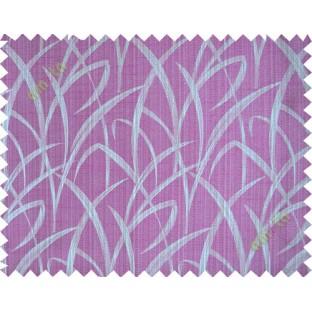 Pink grey maze leaf polycotton main curtain designs