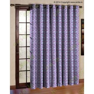 Pink grey floral design polycotton main curtain designs