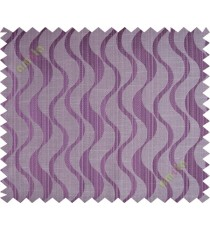 Purple brown vertical wevy polycotton main curtain designs