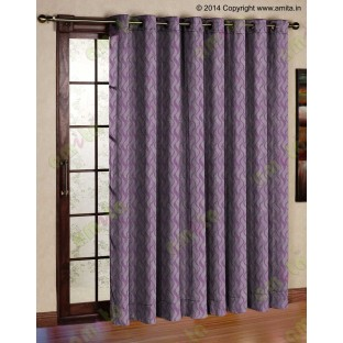 Purple brown vertical wevy polycotton main curtain designs