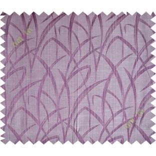 Purple brown maze leaf polycotton main curtain designs